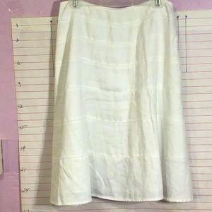 GEORGE women's skirt ladies sz10 White    no tags